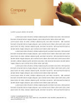 Global: World in Hands Letterhead Template #02727