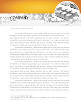 Technology, Science & Computers: Gray Keyboard Letterhead Template #02733