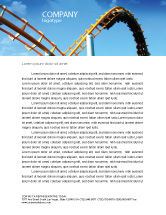 Art & Entertainment: Roller Coaster Letterhead Template #02740
