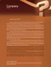 Consulting: Question Mark In 3D Letterhead Template #02749
