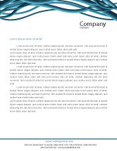 Telecommunication: Aqua Blue Wires Letterhead Template #02781