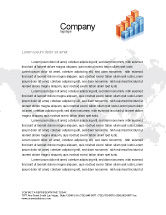 Business: Graphs Letterhead Template #02792