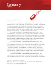 Medical: Computer Pulse Letterhead Template #02809