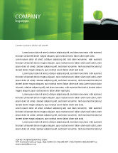 Education & Training: Book And Apple Letterhead Template #02824