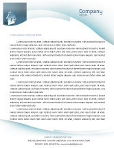 Business: Keyhole Letterhead Template #02830