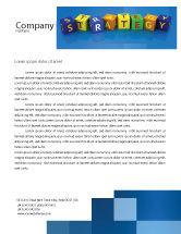 3D: Modèle de Papier à en-tête de education à la stratégie commerciale #02836