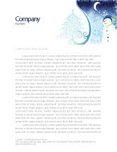 Holiday/Special Occasion: Snowman Letterhead Template #02847