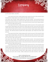 Holiday/Special Occasion: Christmas Theme Letterhead Template #02848