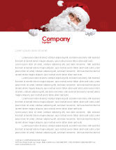 Holiday/Special Occasion: Santa Around the Corner Letterhead Template #02849