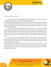 Cars/Transportation: Yellow Loader Letterhead Template #02863