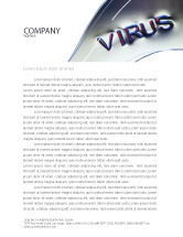 Medical: Virus Sign Letterhead Template #02875