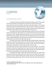 Global: Crystal World Letterhead Template #02876