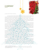 Holiday/Special Occasion: New Year Celebration Letterhead Template #02885
