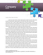 Business Concepts: Fancy Jigsaw Letterhead Template #02895