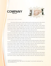 Business: Partnership Letterhead Template #02899