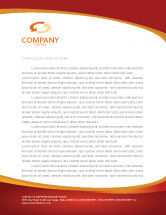 Financial/Accounting: Dollar Rising Letterhead Template #02902