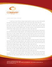 Financial/Accounting: Dollar Rising Letterhead Template #02902