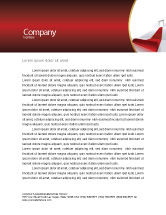 Consulting: Red Carpet Letterhead Template #02912