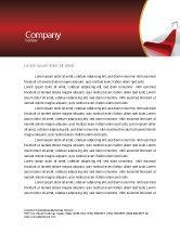 Consulting: レッドカーペット - レターヘッドテンプレート #02912