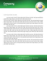Flags/International: Brazilië Tekenen Briefpapier Template #02926