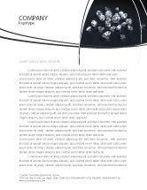 Careers/Industry: Diamonds Letterhead Template #02938