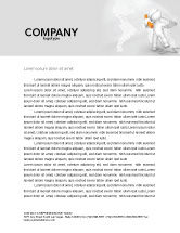 Telecommunication: Orange Telephone Letterhead Template #02951