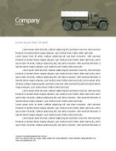 Military: Military Truck Letterhead Template #02962