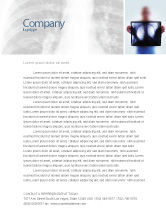 Medical: Lungs Letterhead Template #02975