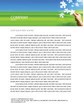 Business Concepts: Picture of the World Letterhead Template #02986