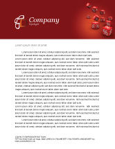 Financial/Accounting: Red Percent Cubes Letterhead Template #02987