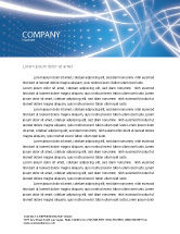 Abstract/Textures: Blue Lines Letterhead Template #02991