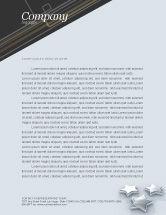 Careers/Industry: Stars Letterhead Template #03006
