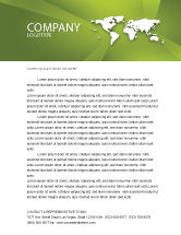 Abstract/Textures: Whole World Letterhead Template #03015