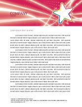 Art & Entertainment: Disco Star Letterhead Template #03020