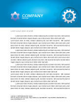 Technology, Science & Computers: Running Letterhead Template #03028