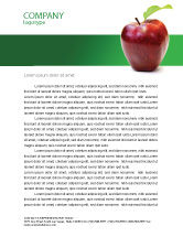 Agriculture and Animals: Red Apple Letterhead Template #03041