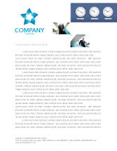 Business: Uren Gratis Briefpapier Template #03050