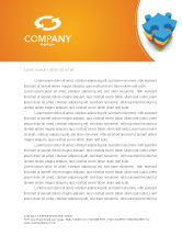 Business Concepts: Puzzle Complete Letterhead Template #03061
