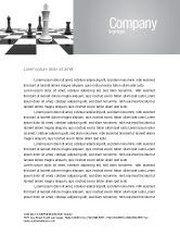 Business Concepts: Chess White Begin And Win Letterhead Template #03069