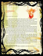 Art & Entertainment: Templat Kop Surat Tipografi #03077