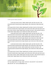 Nature & Environment: Green Health Letterhead Template #03083