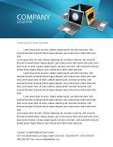 Technology, Science & Computers: Plantilla de membrete - trabajo de equipo a larga distancia #03089