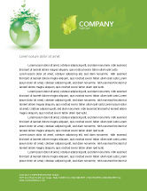 Nature & Environment: Green Environment Letterhead Template #03091