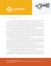 Business Concepts: Steel Puzzle Letterhead Template #03097