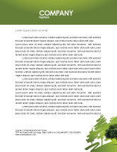 Nature & Environment: Green Tree On Light Olive Background Letterhead Template #03109