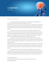 Medical: Brain In Skull Letterhead Template #03110