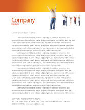 People: Hands Up Teenagers Letterhead Template #03124