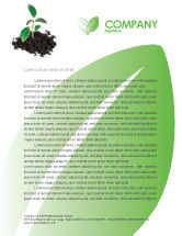 Nature & Environment: Life Letterhead Template #03126