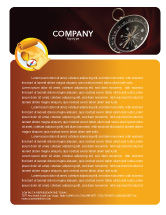 Business Concepts: Modelo de Papel Timbrado - bússola escuro vermelho veludo #03130