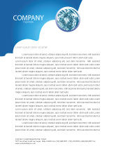 3D: Water Theme Letterhead Template #03137